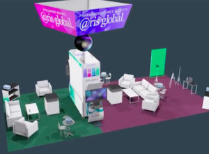 Aris Global trade show booth by The Voice