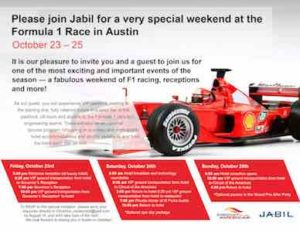 Jabil F1 flyer by The Voice