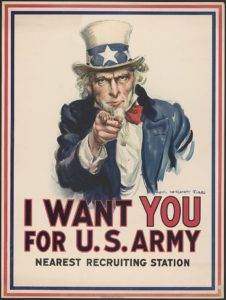 Flagg Uncle Same I Want You Poster